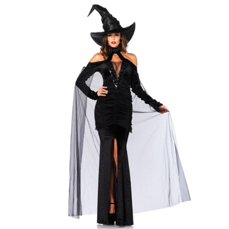 high quality Sexy Witch Dress Trendy Masquerade Costumes Party Witch Cosplay Costume princess Peculiar queen Costumes Halloween