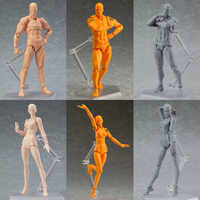 2018 NEW STYLE SHFiguarts BODY KUN / BODY CHAN body-chan body-kun Grey Color Ver. Black PVC Action Figure Collectible Model Toy