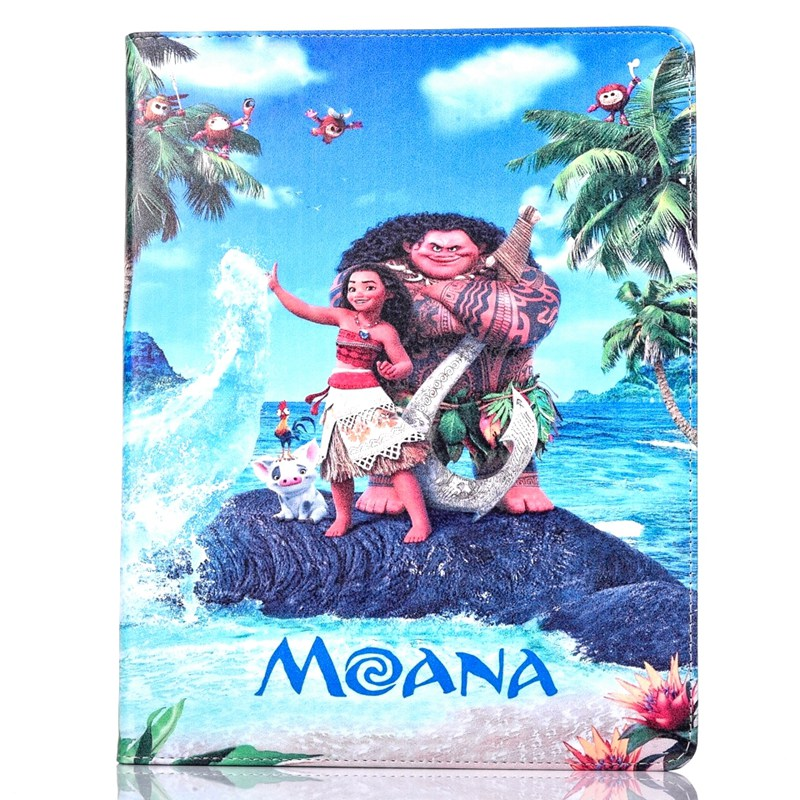 Tablet Case for Apple ipad mini 4 fashional MOANA movie prints PU leather protective Cover stand shell coque para capa