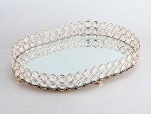 35CM width big European crystal candlesticks desktop ornaments fruit bowl storage box plate export wedding props