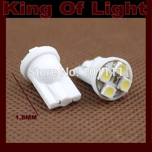 20X Car Auto LED 194 W5W 4SMD T10 4 led smd 3528 Wedge LED Light Bulb Lamp White blue yellow green red free shipping