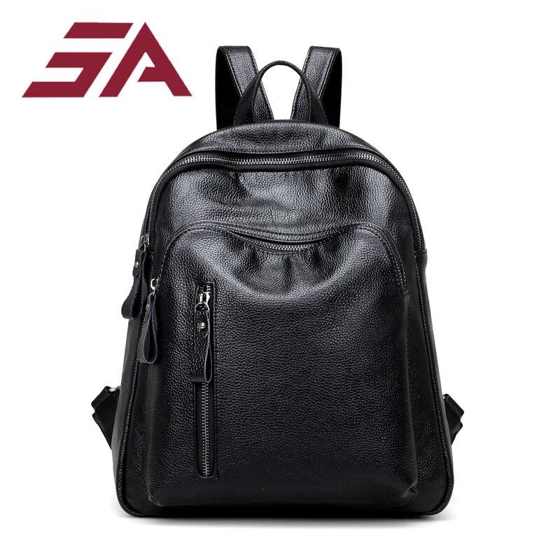 Petrichor Vintage Zipper Designer femmes sac à dos sac de voyage-mode femme sac à main dames sac à bandoulière noir fille école sac à dos
