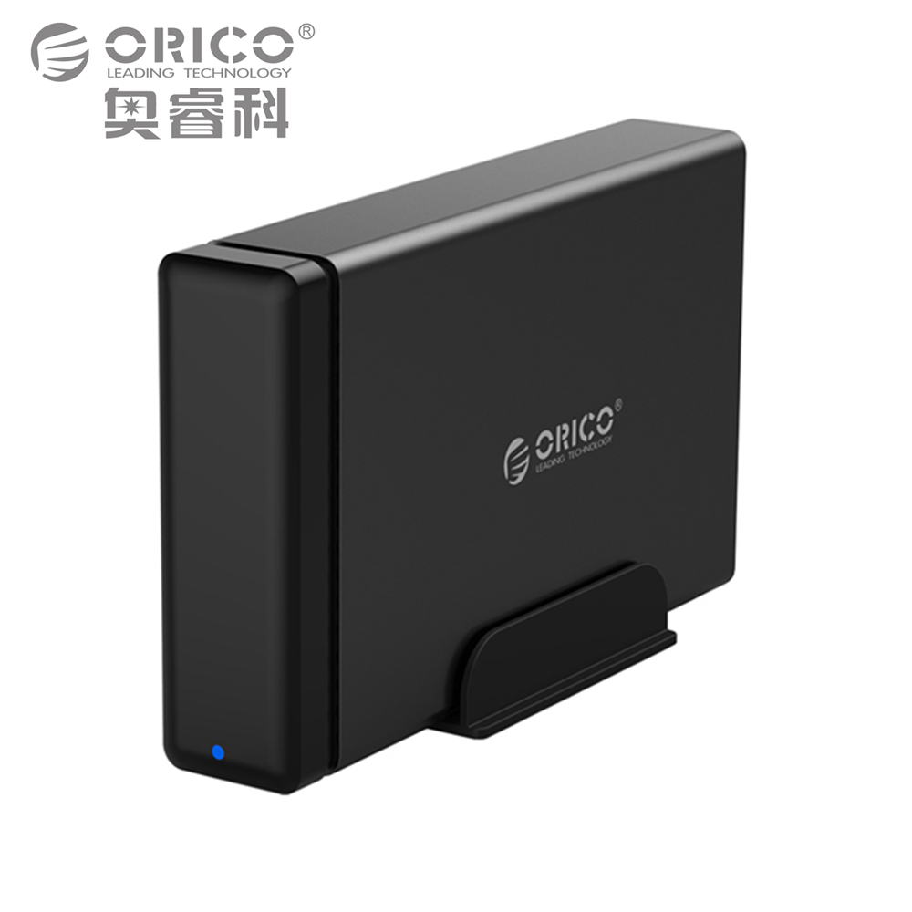 ORICO Type-C Aluminum Hard Drive HDD Dock Enclosure USB3.1 to SATA3.0 3.5 in HDD Case Support UASP 12V2A Power MAX 10TB Capacity orico 2 5 usb 3 0 sata hd box hdd hard disk drive external hdd enclosure transparent case tool free 5 gbps support 2tb