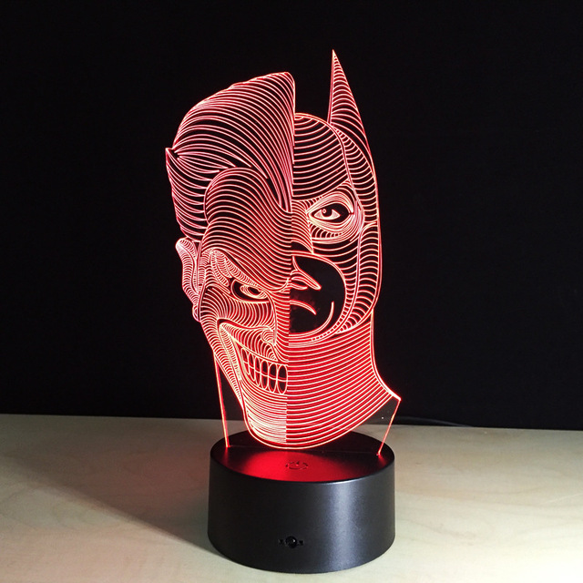 1 unids Anime Dos Cara Hombre marco de la pantalla Táctil 3D ilusión Led flash de luz de juguete.