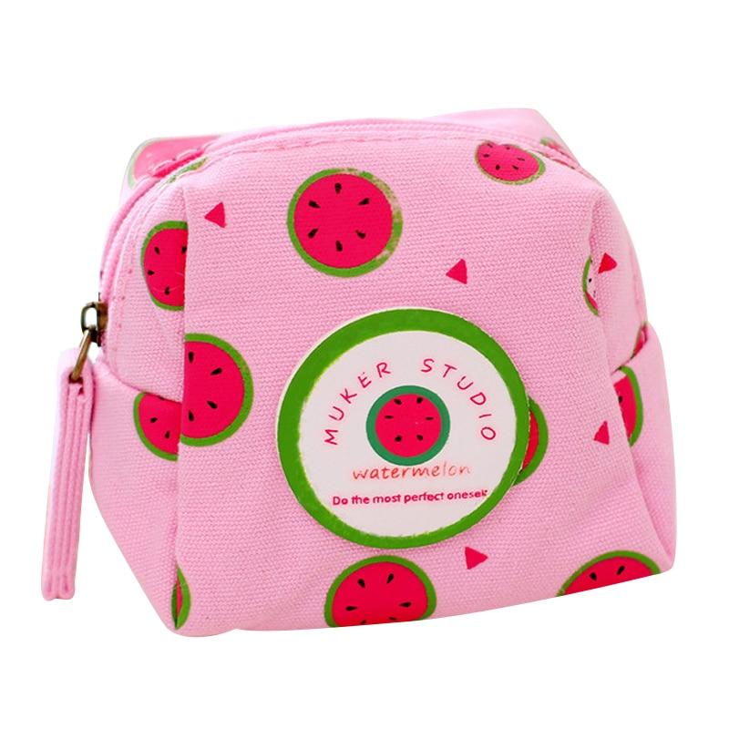 Fresh Style Creative Cubic Fruit Canvas Coin Purse Key Wallet Storage Organizer Bag font b Novelty