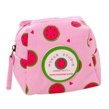 Fresh Style Creative Cubic Fruit Canvas Coin Purse Key Wallet Storage Organizer Bag Novelty Gift