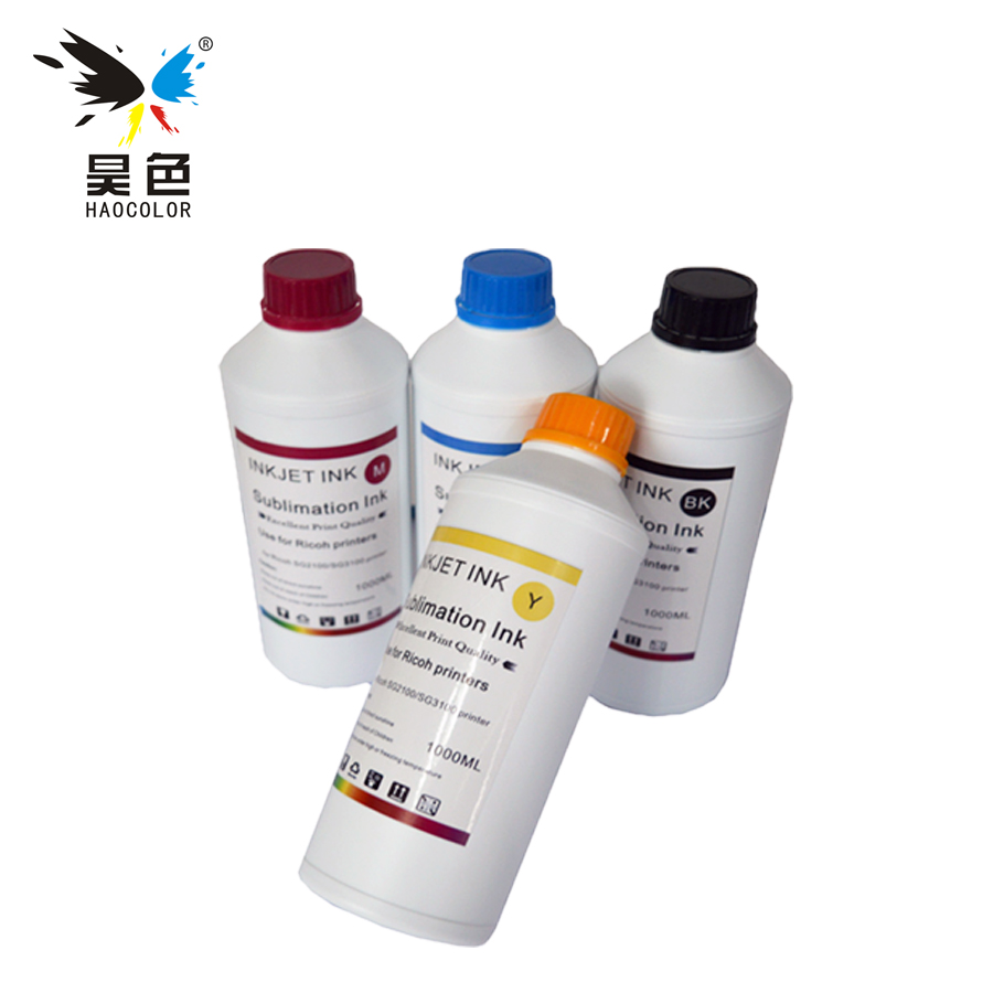 4*1000ML Universal Sublimation Ink For Epson DX5 1390 sc-p400 Printers Heat Transfer Ink Heat Press high heat transfer rate