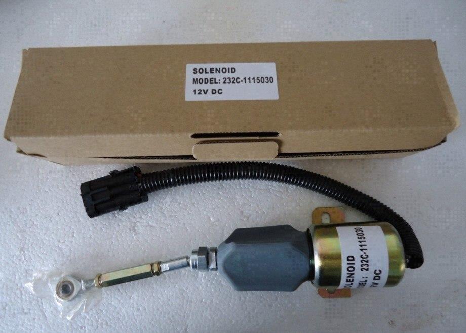 232C-1115030 12VDC solénoïde d'arrêt, livraison gratuite