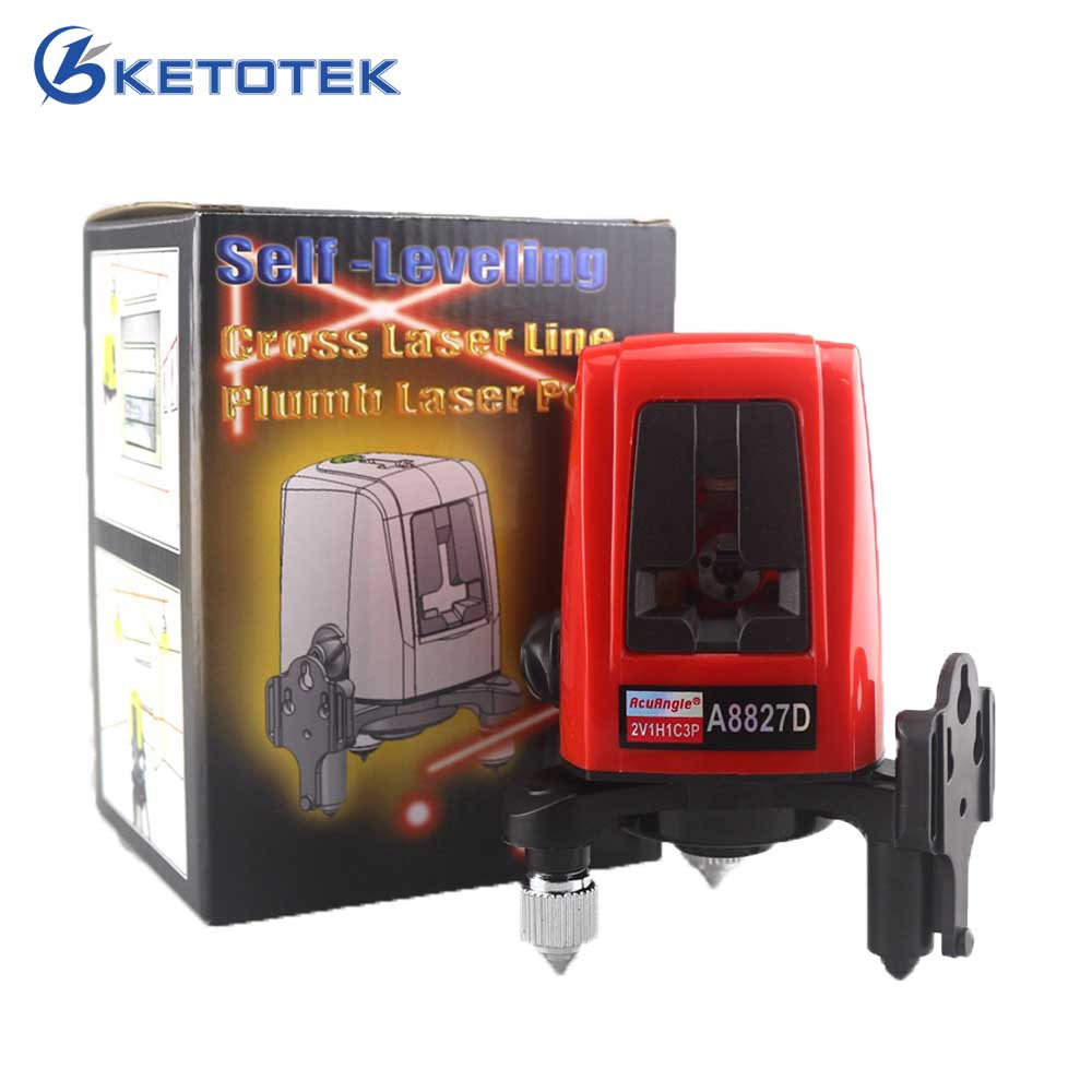 ACUANGLE A8827D Laser Level 3 Lines 3 points Red Line 360degree Self-leveling Cross Laser Levels Diagnostic-tool Replace AK455