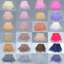 1 metro de comprimento de qualidade avestruz cabelo guarnição lateral sideband / tira saia / vestido / terno / jóias