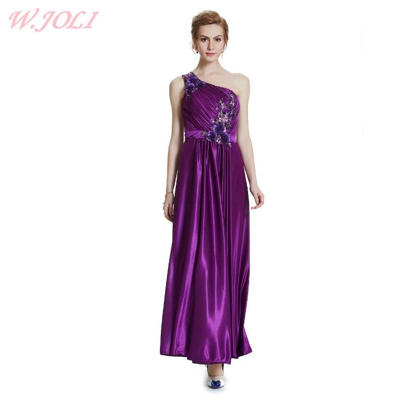 W.JOLI 2017 Beading Appliques Long Evening Dress Brude Bankett - Spesielle anledninger kjoler - Bilde 1