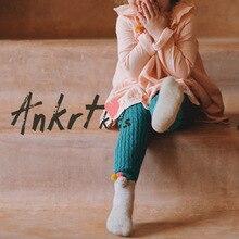 Фотография ANKRT Sale Mid New Fashion Knitting Girls Leggings Autumn Winter Outfit Render Pants Children Kids Female Warm Ruched Clothing