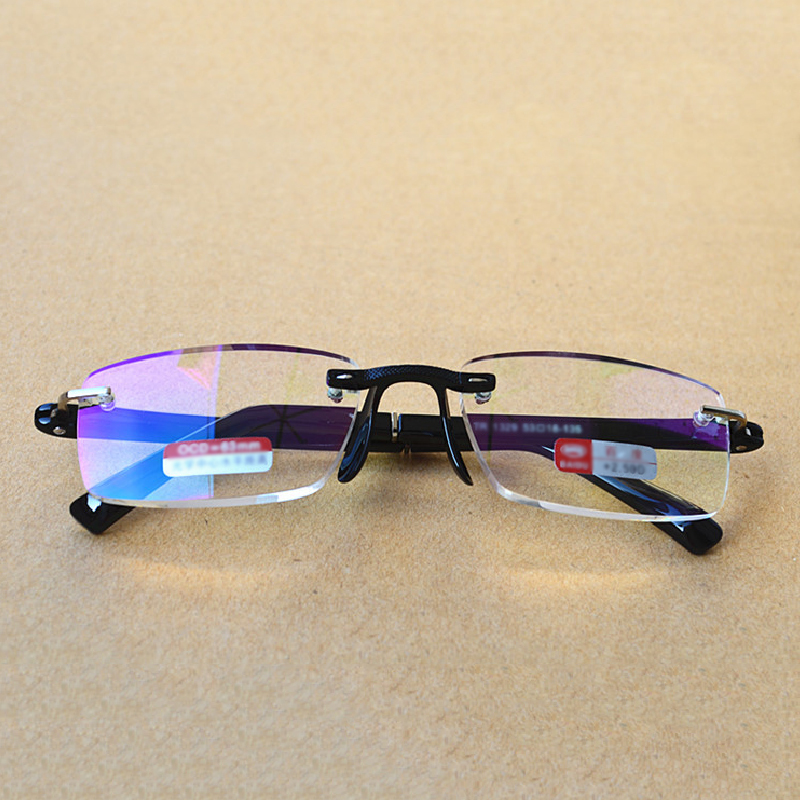 Aspiring Men Women Frameless Reading Glasses Resin Lenses With Pu Glasses Case Portable Eye Glasses Hyperopia R176