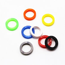 Newly 8X Bright Colors Hollow Silicone Key Cap Covers Topper Keyring With Rings On Car