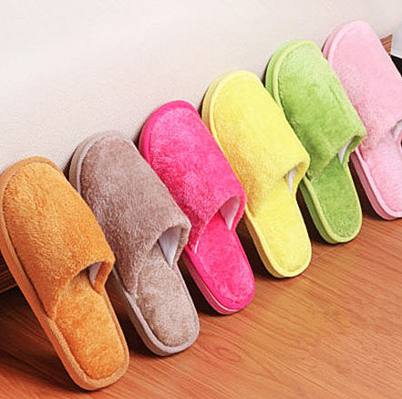 Plush Cotton Slippers Winter Warm Indoor Couple Slippers Women Men Shoes soft plush big feet pattern winter slippers