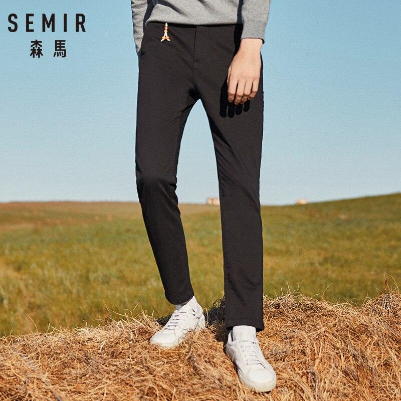 SEMIR Pants Men 2019 Autumn Casual Pants Men Fashion Slim Fit Trousers Men High Quality Plus Size Bottoms Street Style