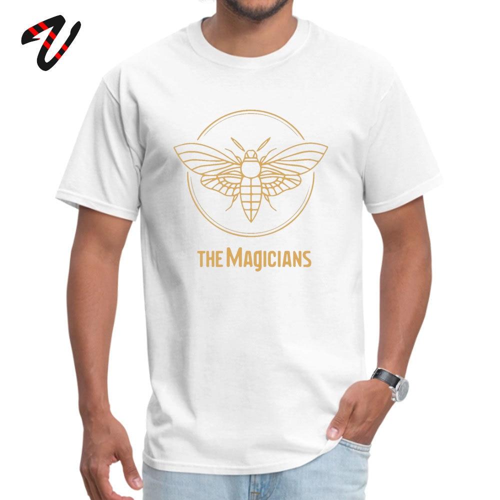 Wholesale Men T Shirt the magicians Summer Tops Shirt 100% Cotton Short Sleeve comfortable Tops Shirts Round Neck the magicians -18790 white