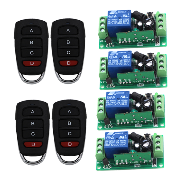 Hot Selling 1CH RF New DC9V/24V Radio Control Relay 2 Working Ways Remote Control Switch Learning Code 315/433 MHz 2 working ways rf wireless intelligent