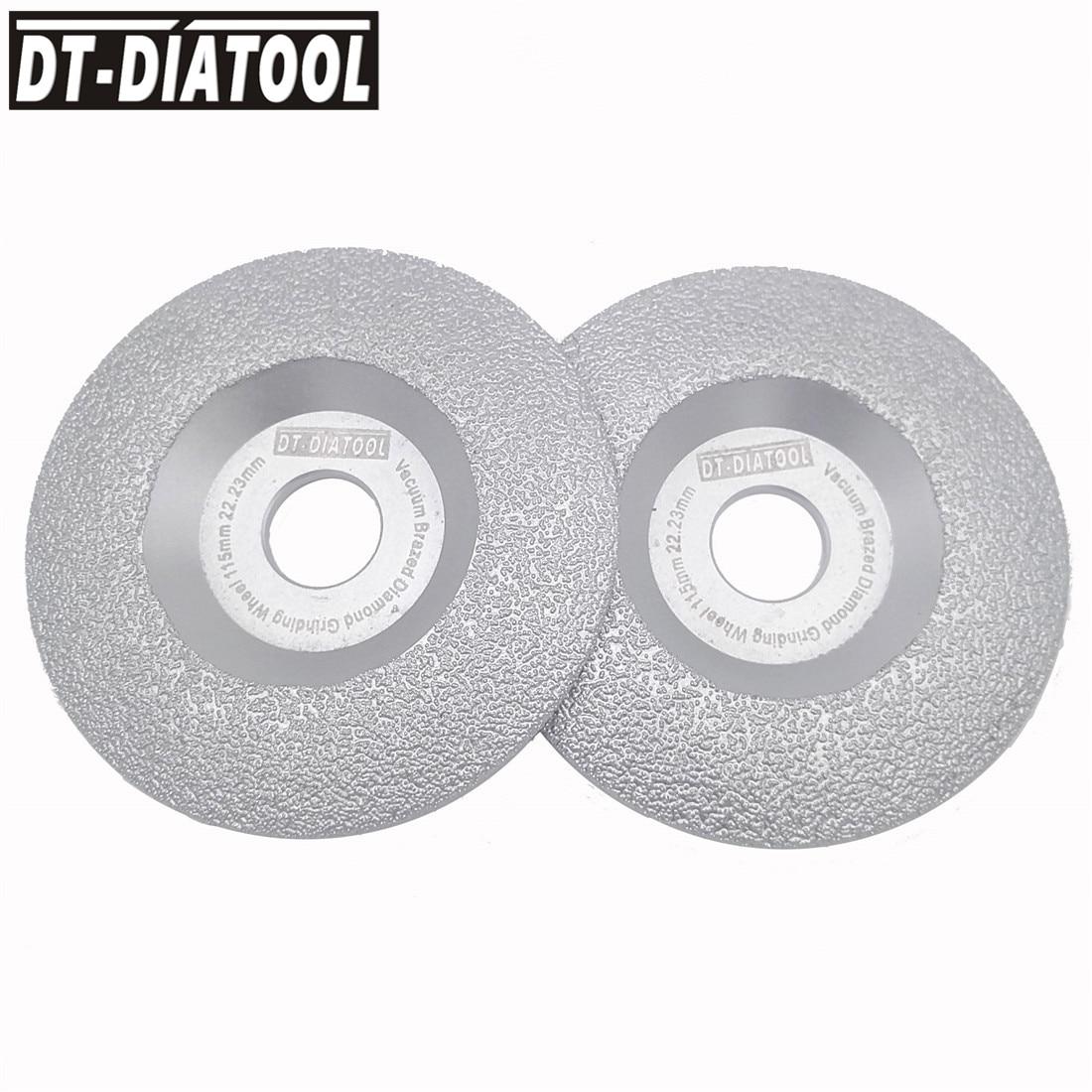 цена на DT-DIATOOL 2pcs Dia 115mm Vacuum Brazed Diamond Wheel Grinding Disc Faster Speed Longer Life 4.5 inch Construction Material