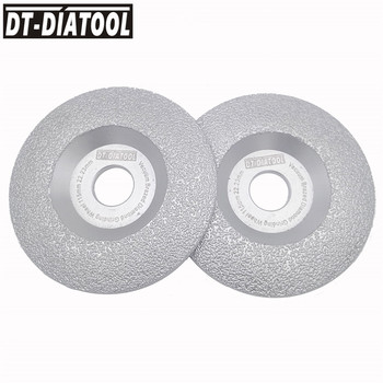 DT-DIATOOL 2pcs Dia 115mm Vacuum Brazed Diamond Wheel Grinding Disc Faster Speed Longer Life 4.5 inch Construction Material