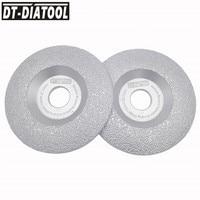 DT DIATOOL 2pcs Dia 115mm Vacuum Brazed Diamond Wheel Grinding Disc Faster Speed Longer Life 4.5 inch Construction Material
