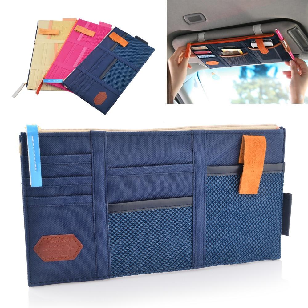 multifunction sun visor storage bag car cd bag card