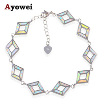 Gifts For Friend White Fire Opal Wonderful Charm Bracelets Silver Stamped Wedding Accessories For Women OB052A