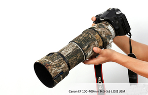 Image 2 - ROLANPRO Lens Camouflage Coat Rain Cover for Canon EF 100 400mm f4.5 5.6 L IS II USM lens Protective Sleeve Guns Case Outdoor