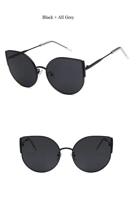 Cat Eye Sunglasses Women Fashion 2019 Sexy Vintage Brand Luxury Oversized Sun Glasses Heart Shape GM Glasses Black Pink Color