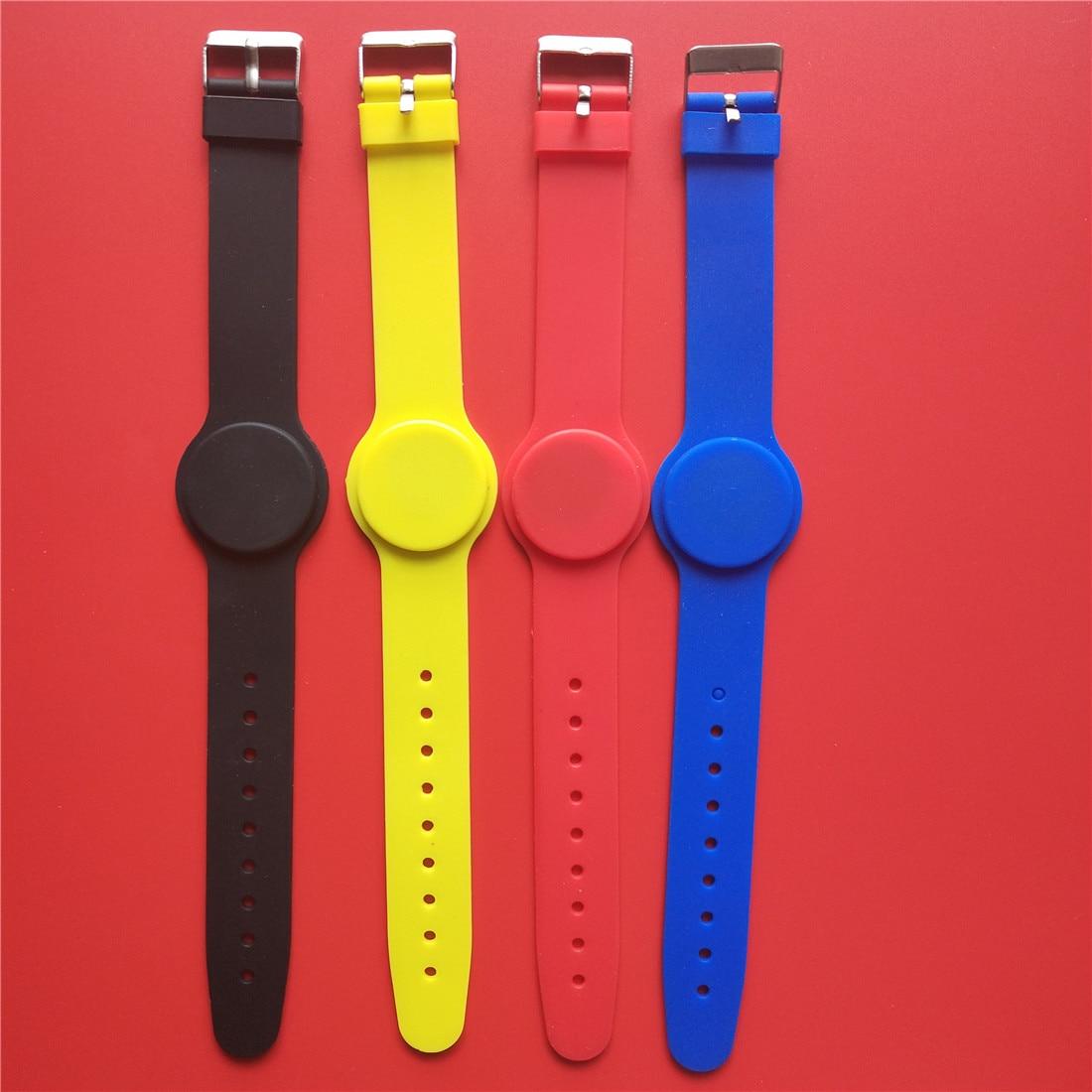 Waterproof 13.56MH RFID Wristband FM1108 IC Silicone Proximity Smart Bracelet - 10pcs