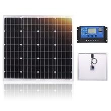 DOKIO 60 W 18 볼트 작은 태양 전지 패널 중국 60 와트 방수 패널 태양 전지 세트 셀/모듈/시스템/홈/보트 10A 12/24V Controlle