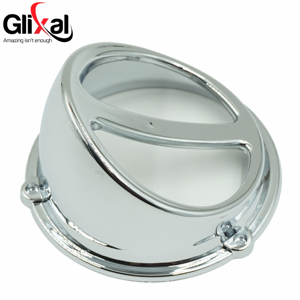 Glixal High Performance Chrome Fan Cover Air Scoop Cap Gy6 125cc 150cc Chinese Scooter 152QMI 157QMJ Engine image