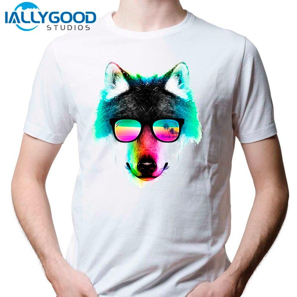 Zebra shirt design - 2017 New Arrival Men S Fashion Crazy Dj Cat Pug Dog Design T Shirt Cool Wolf Zebra