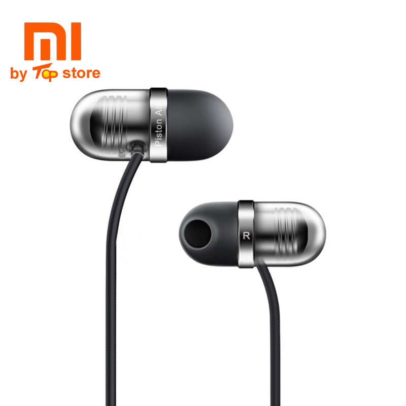 Original Xiaomi Piston Air Earphone with Mic Remote Silicone Headset for Mobile Phone In-Ear Computer MP3 Piston Capsule headset original xiaomi xiomi mi hybrid earphone 1more design in ear multi unit piston headset hifi for smart mobile phone fon de ouvido