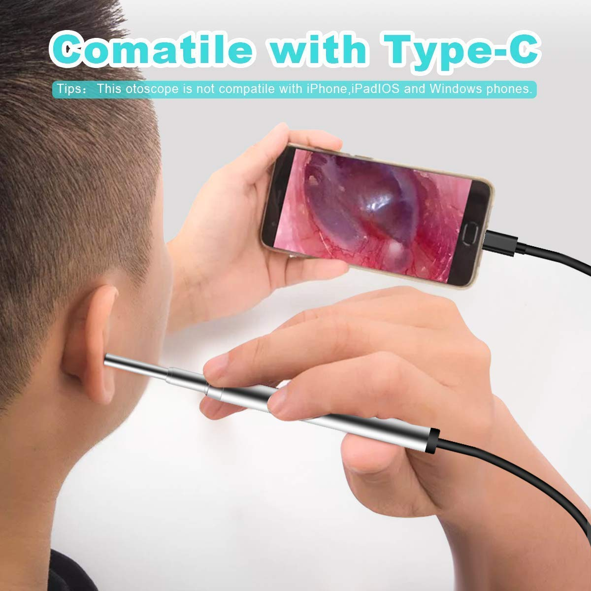 3 9MM Mini Medical Endoscope Camera  Waterproof USB Endoscope Inspection Camera for OTG Android Phone PC Ear Nose Borescope