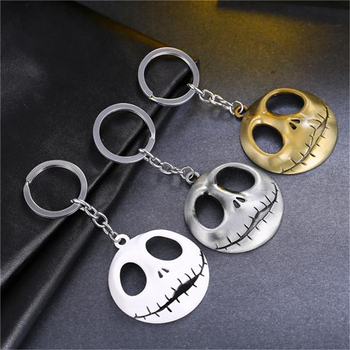 MS JEWELS The Nightmare Before Christmas Key Chain Jack Skellington Metal Key Rings Present Chaveiro Keychains