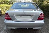 벤츠 W220 99 05 S280 S280L S320 S320L S350 4 MATIC S430 S500 바 스타일 FRP 섬유 유리 후면 립 범퍼 자동차 및 오토바이 -