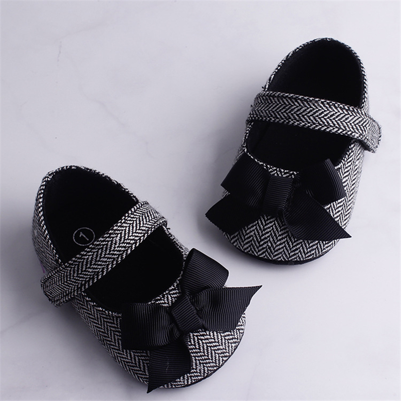Infant Baby Girl Shoes Soft Sole Bowknot Newborn Shoes Anti-slip First Walkers Shoes Cute Striped Shoes Summer 2019