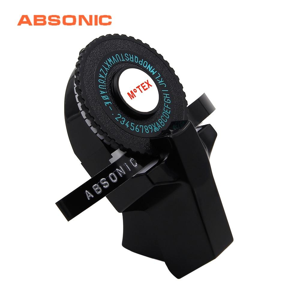Absonic 3D Embossing Motex E101 9mm Label Maker For Dymo Label Printer Korean Digital Letter Typewriter Manual Labeling|Printer Ribbons| |  - title=