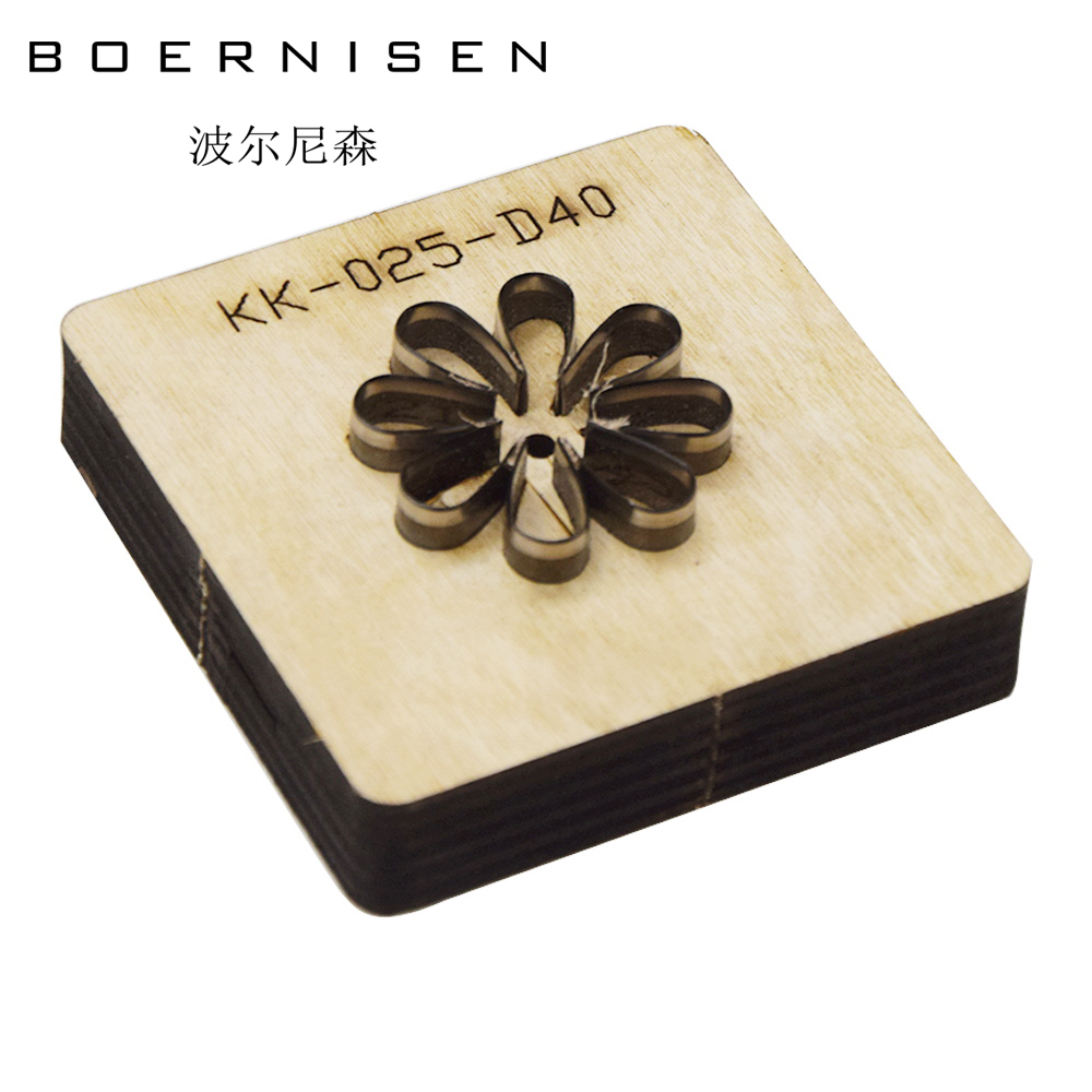 BOERNISEN Petals Japanese Steel Knife Wood Mold Leather Craft Punching Machine Hand Knife Cutting Die Sewing