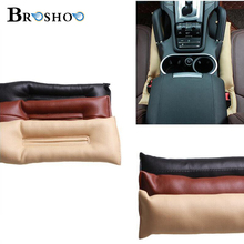 BROSHOO 2 pcs/lot  PU Leather Universal Car Seat Gap Filler Stopper Soft Plug Pad Padding Spacer Covers Styling 4 Colors 45*7CM