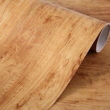 3M PVC Self adhesive Wallpaper Roll PVC Waterproof Wall sticker Furniture Vinyl Decorative Film Wood Style Home Decor Wall Paper