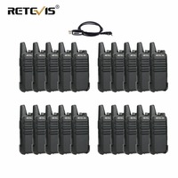 20pcs RETEVIS RT22 Walkie Talkie 2W UHF VOX Hands free Walkie Talkies Portable Two Way Radio Transceiver Communication Equipment