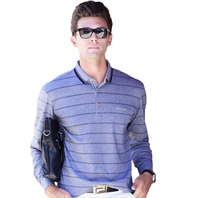 High Quality 2016 Business Casual Cotton Polo Mens Breathable Polo Shirt Men Long Sleeve Polo Ralphmen Pol Shirt Polo Homme XXXL