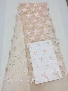 2018 Latest French Nigerian Laces Fabrics High Quality Tulle African Laces Fabric Wedding African French Tulle Lace ALC-DP003