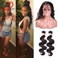 Gossip girl 360 laço frontal com pacote pré arrancadas 7a brasileira Onda Do Corpo Do Cabelo Virgem Linha Fina Natural 360 Virgem Rendas cabelo