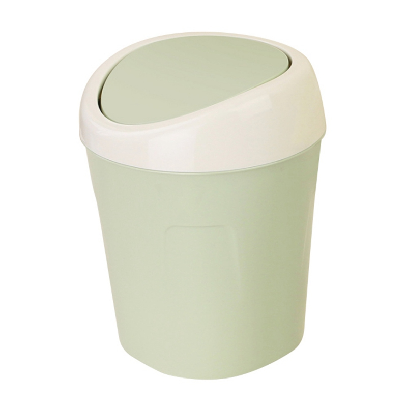 Mini plastic storage bucket Table small table cylinder mini trash kitchen household items ...