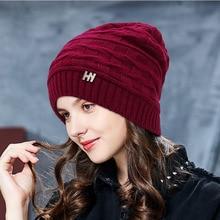 2019 Winter Hats For Women Solid Beanie Hats for Women Skullies Warm Cap Hip Hop Gorros Female Cap Bonnet Femme