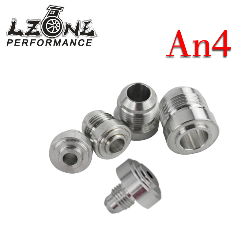 Auto Replacement Parts 4pcs/set High Quality Aluminum An4-an Straight Male Weld Fitting Adapter Weld Bung Nitrous Hose Fitting Jr-sl617-7204 Lzone