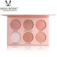 Vente chaude 6 Couleur Shimmer Glow Lumière Maquillage Palette Étanche 18.5*12.7 CM Compact Contour Palette Beauté Essentielle